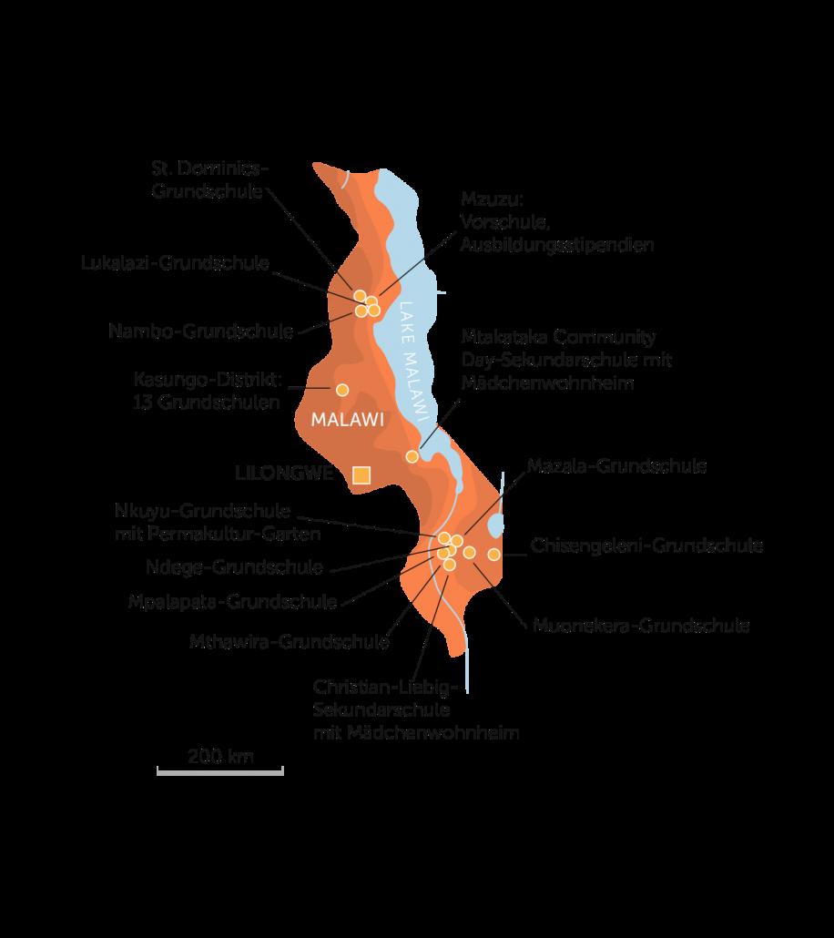 Karte Malawi 2021