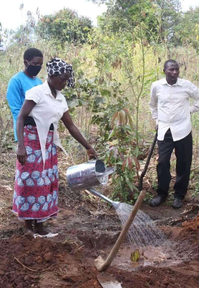 Nkuyu garden project planting
